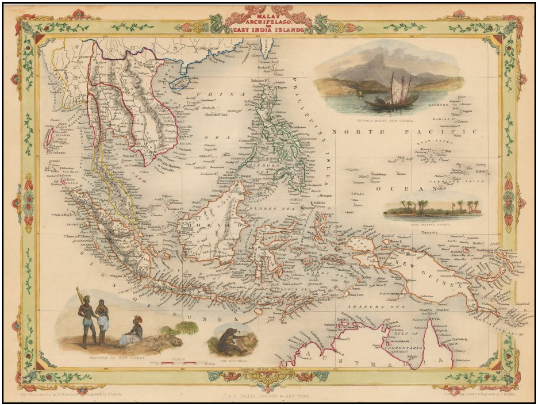 Map Of Asia Today.Archipelago Antique Maps Antique Maps Sold In Singapore